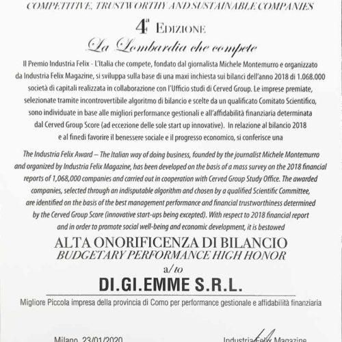 Felix Award 2020 Lombardia